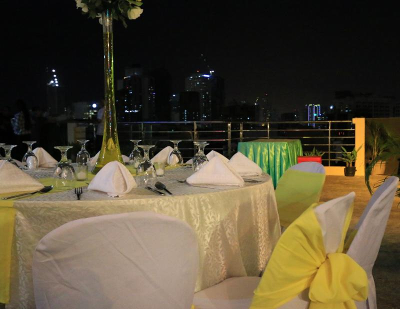 Skyline Deck Party venue set-up Alejandra Hotel Makati